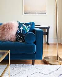 Living Room With Blue Sofa Sven Pacific Blue Sofa Sofas Article Modern Mid Century And