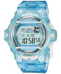 light blue g shock watch baby g women s digital baby g blue resin strap watch 43mm watches