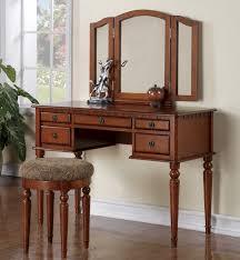 Vanity For Bedroom Furniture Cozy Round Design Feats Trendy Wooden Vanity
