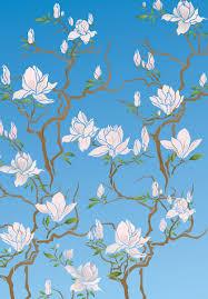 flowering magnolia tree stencil henny donovan motif