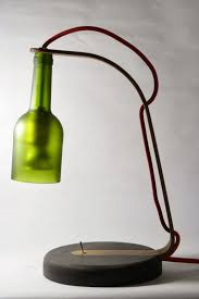Lamps Made From Bottles Upcycled Wine Bottle Desk Lamp U2022 Recyclart