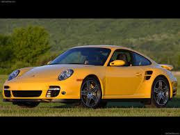 yellow porsche 2007 yellow porsche 911 turbo wallpapers