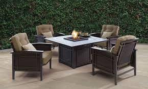 Gas Fire Pit Table Sets - dining tables fire pit table lowes propane fire table heavy duty