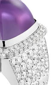 large amethyst diamond white gold interchangeable white gold and amethyst cabochon mount moda operandi