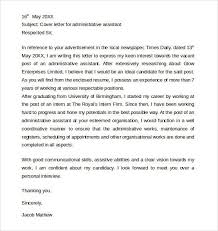 administrative assistant cover letter examples assistant cover