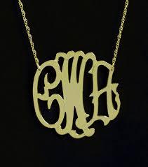 monogram necklaces gold 1 1 4 inch fancy gold vermeil monogram necklace purple mermaid