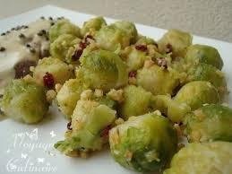 cuisiner des choux de bruxelles frais poêlée de choux de bruxelles frais aux baies d épine vinette et