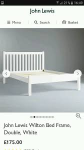 Double Bed Frame Prices John Lewis White Wilton Double Bed Frame Excellent Price Not Boxed