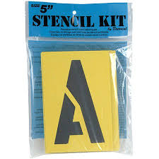 decorcal 5sk reusable stencil lettering kit 5 inch multi colored