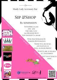 sip and shop invitation shady lady accessory bar sip u0026 shop u2014 the cave la