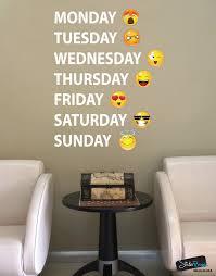 days week emojis vinyl wall decal sticker 6071