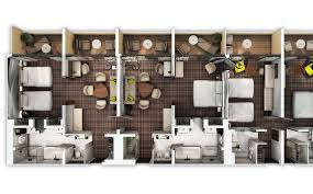 Monte Carlo Spa Suite Floor Plan by Spacious Suites With Two Three And Four Rooms
