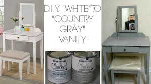 gray furniture paint d i y white to country gray using rustoleum chalk paint youtube