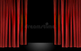 Stage With Curtains Elegant Theater Stage With Red Velvet Curtains Stock Images