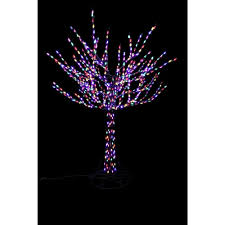 Prelit Outdoor Christmas Trees Outdoor Christmas 96 In Led Pre Lit Bare Branch Tree With