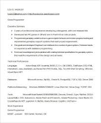 Programming Resume Examples by Sample Programmer Resume Top 8 Data Programmer Resume Samples In