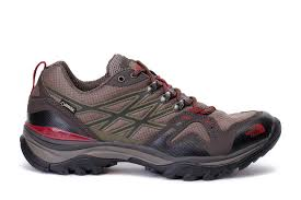 the north face mens hedgehog fastpack gtx hiking shoes brown red