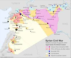 Syria On A Map by Syria Civil War Map August 2014 13 Political Geography Now