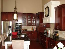 kitchen cabinets and countertops designs cherry kitchen cabinets with granite countertops dans design