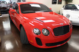 bentley coupe red used 2010 bentley continental supersports stock p64405 ultra