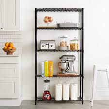 amazon com amazonbasics 5 shelf shelving unit black home u0026 kitchen