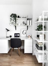 Office Decor Pinterest by White Desk W Black Hairpin Legs Black Wire Chair W White Pillow
