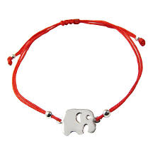 bracelet red images Elephant bracelet red string sterling silver lucky charm jpg