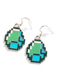 minecraft earrings minecraft bling the in me