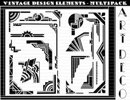 printable art deco borders vector art deco borders art deco design elements art deco