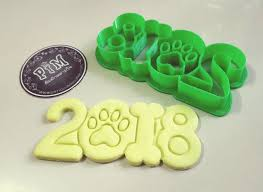 new year cookie cutters new year 2018 dog year cookie cutter 3d printable model