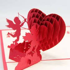 cupids with hearts 3d pop up greeting cards handmade nepsource