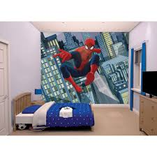 Voilage Spiderman by Mural Walltastic Papier Autocollant Spiderman 245x305 Cm Leen