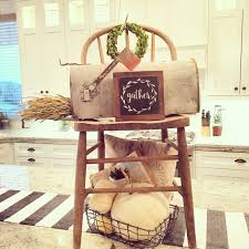 Farmhouse Style Kitchen Islands by Love Using Unexpected Items As Decor On The Kitchen Island The