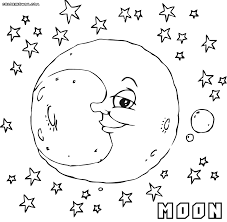 moon coloring pages coloring pages download print