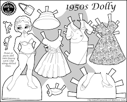 1950s retro fashion paper doll