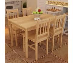 table avec 4 chaises acheter table à manger avec 4 chaises en bois naturel pas cher