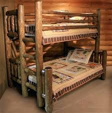 Log Bunk Bed Plans Log Bunk Beds Log With Desk Rustic Log Bunk Bed From Rocky Top