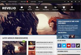 gaming html5 templates free u0026 premium themes creative template