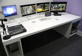 awesome desks custom console installs four edit desk suites at uk satellite