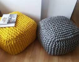 Knit Ottoman Pouf Knitted Bean Bag Pattern Durgapur Info For