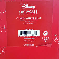lenox belle christmas time ornament disney beauty and the beast