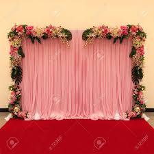 wedding backdrop of flowers beautiful backdrop flowers arrangement for wedding ceremony stock