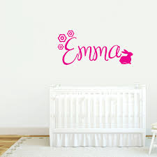 custom wall decal 2017 grasscloth wallpaper custom name with bunny wall decals