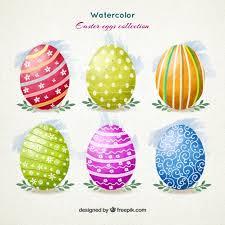 watercolor ornamental easter eggs vector premium