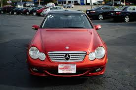 pink mercedes 2005 mercedes benz c230k red used sport coupe sale