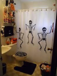 bloody hand shower curtain scary hallowen bathroom decor