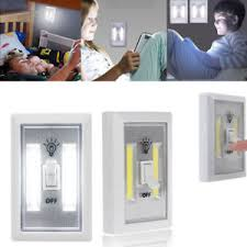 cob led wireless night light with switch cob led wall switch wireless battery operated closet cordless night