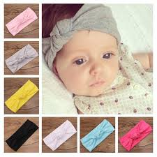 hair bands for babies 2018 baby tie knot headband knitted cotton children