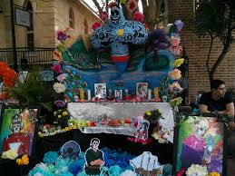 tribute altar to robin williams found at dia de los muertos san