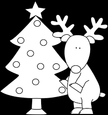 christmas reindeer black and white clipar clip art library